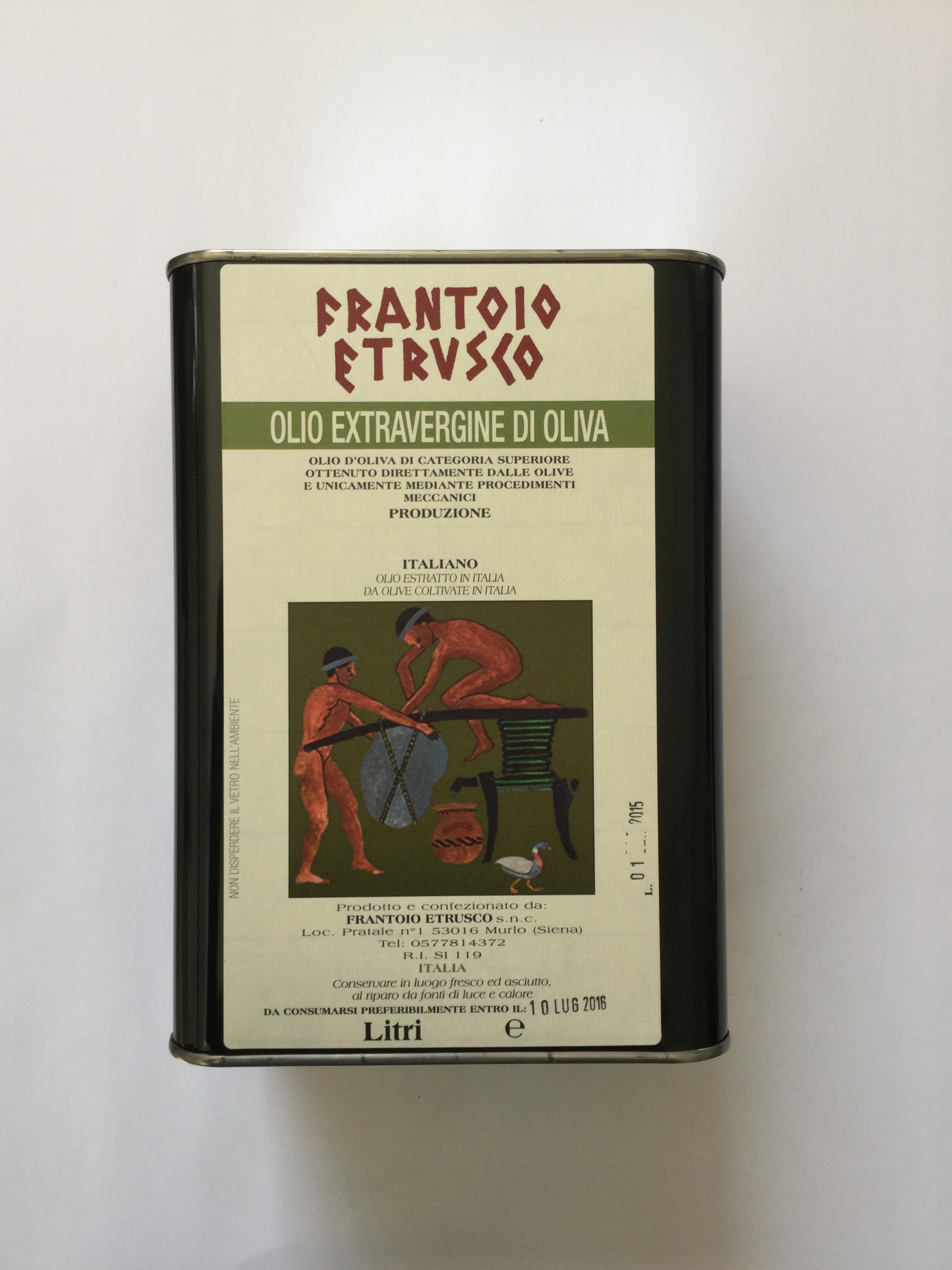 Frantoio Etrusco Olio Extravergine di Oliva Lattina 3 lt